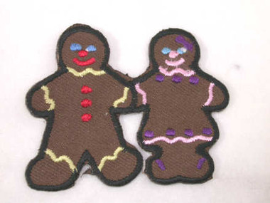 Gingerbread Boy Girl Couple Iron On Patch