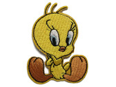 Shy Tweety Bird Embroidered Iron On Applique Patch