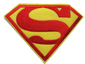 Superman Logo Embroidered Iron On Patch Applique 5.25 Inches