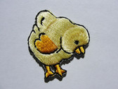 Yellow Easter Chick Iron On Applique Patch 1.13 Inches