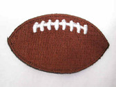 Football White Stitching Sueded Iron On Patch 2 Inch