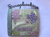 Scrapbooking Family Album Embroidered Iron On Applique