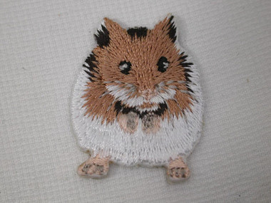 Hamster Syrian Teddy Bear Iron On Applique Patch 1.25 Inches