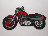Motorcycle Embroidered Iron On Patch 3.75 In Left