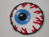 Veined Eyeball Embroidered Iron On Applique Patch 2 Inch