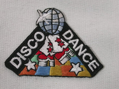 Disco Beat Dance Globe 80's Iron On Patch Applique