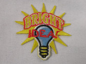 Bright Idea Lightbulb Embroidered Iron On Patch
