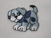 Beagle Puppy Dog Embroidered Iron On Patch Applique Blue