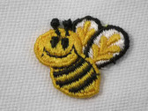 Comical Bee Embroidered Sew On Patch Applique
