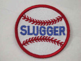 Slugger Baseball Embroidered Iron On Applique Patch
