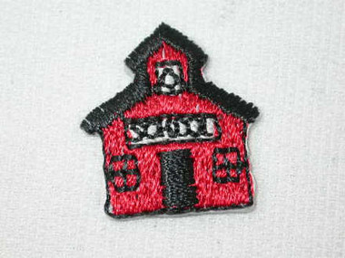 Little Red School House Embroidered Iron On Patches