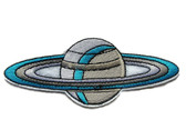 Saturn Planet with Rings Iron On Patch 4.5 Inches