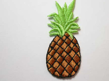 Pineapple Embroidered Iron On Patch 1.75 Inch