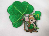 Irish St Patrick's Mouse w Hat Iron On Applique Patch