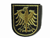 Gold Firebird Crest Emblem Embroidered Iron On Patch Applique