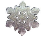 Snowflake Organza Metallic White Embroidered Iron On Patch 2.18 Inches