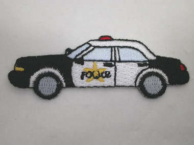 Police Car Embroidered Iron On Patch