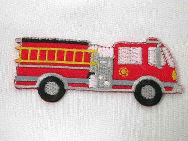 Fire Truck Embroidered Iron On Patch Applique 3 Inch