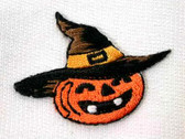 Pumpkin Witch Halloween Embroidered Iron On Patch