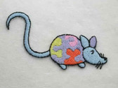 Long Tail Blue Crazy Mouse Embroidered Iron On Patch Applique