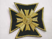 Iron Cross Black Gold Heraldic Embroidered Patch