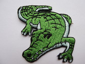 Alligator Crocodile Embroidered Iron On Applique Patch Curled
