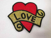 Love Heart Tattoo Iron On Applique Patch