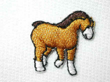 Palomino Horse Iron On Applique Patch .88 In