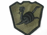 Military Coiled Rattlesnake Embroidered Sew On Patch