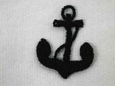 Dark Navy Anchor Embroidered Sew On Applique Patch Small
