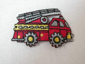 Fire Engine Truck w Ladder Embroidered Iron On Applique Patch 1.75 Inches