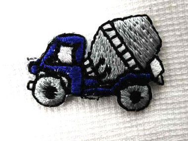 Cement Dump Truck Embroidered Iron On Patch .75 In
