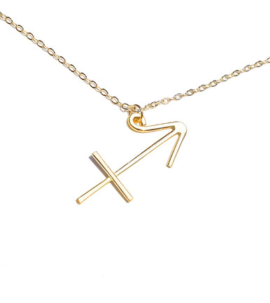 london skinnydip sign necklace pisces aquarius gold products wanderlust zodiac