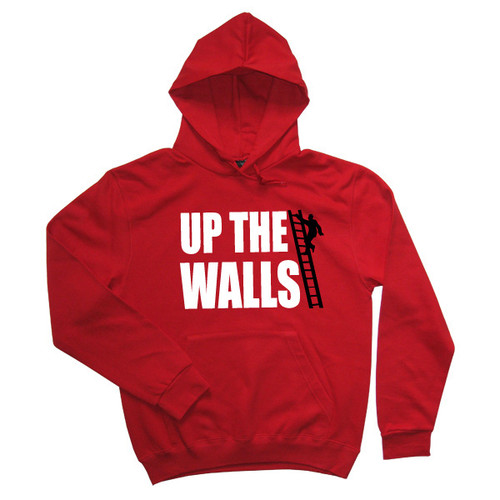 Up The Walls Mens Red Hoodie