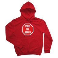 Stall the Beans Mens Red Hoodie