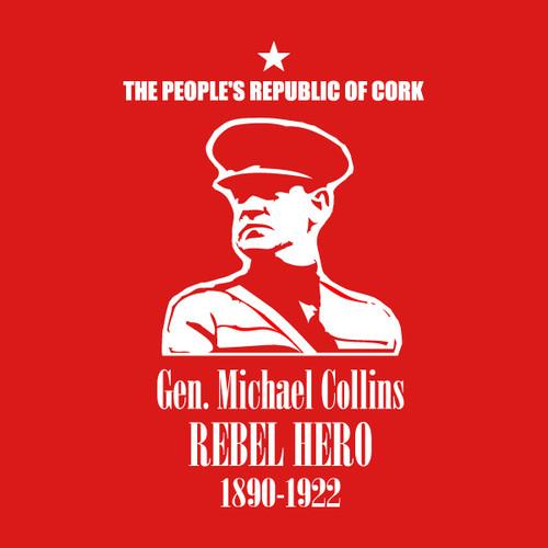 Rebel Hero - Gen. Michael Collins Mens T Shirt