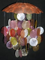 Orange Capiz Wind Chime (single)