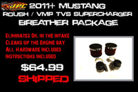 JPC- 2011+ GT/Boss Breather Package for Roush/VMP TVS Supercharger