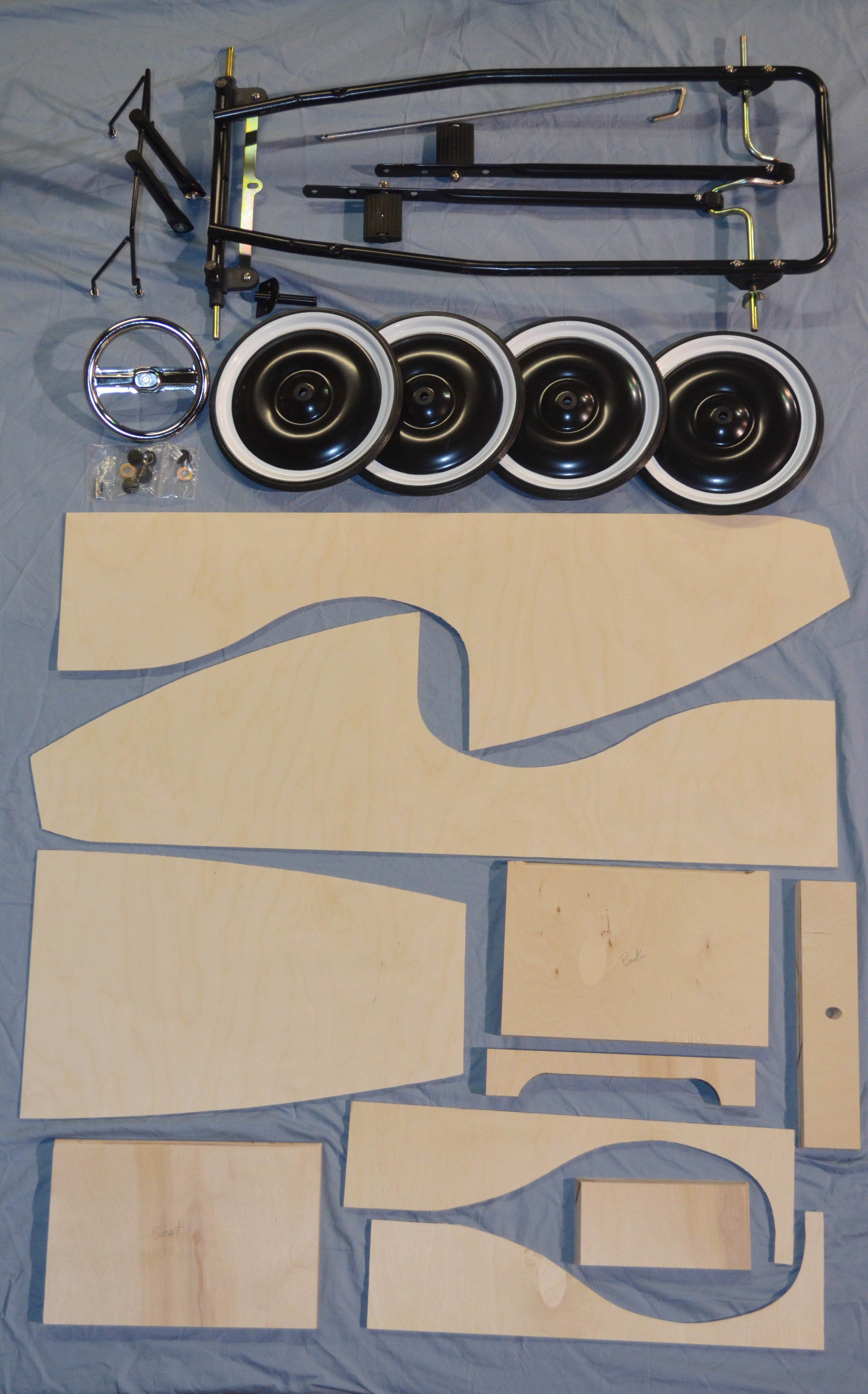 Diy Pedal Car : Wooden pedal car kit with chassis pedalcar