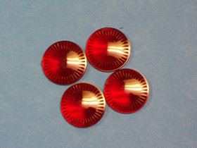 Hubcap Centers-Red (Set Of 4)