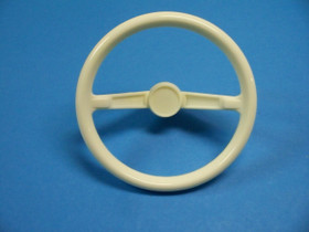 White Plastic Steering Wheel