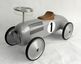Scoot Along Ride On Racer In Silver