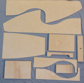 Wooden Pedal Car Kit. Wood Parts Only