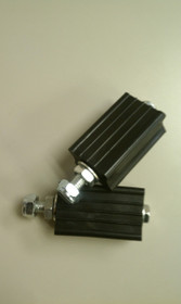 Rubber Pedals with Attaching Bolts