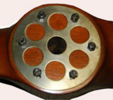 Close Up Of Propeller's Brass Center