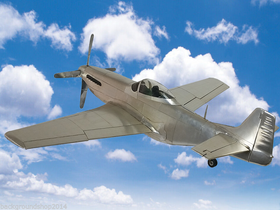 Mustang P-51 Fighter Aluminum Airplane Model