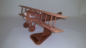 Spad XIII Biplane Desktop Wooden Model