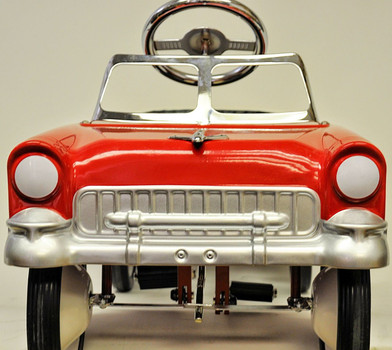 1955 Classic Pedal Car in Red and White