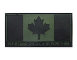 Morale Patch - Military Green - We Stand On Guard For Thee
