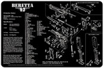 Beretta 92 Pistol Cleaning mat